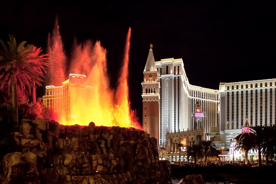 Best places to visit - The Volcano at the Mirage